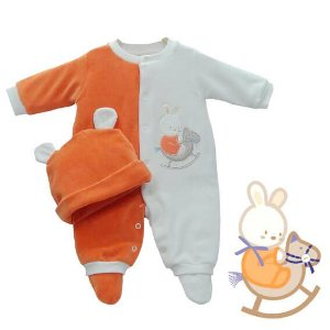 Macacão Bebê Baby fashion plush upa upa cavalinho + touca