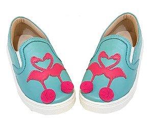 Tênis infantil Rio Slip On Iate Flamingo azul