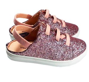 Tênis infantil Menina Rio Mule pink Glitter