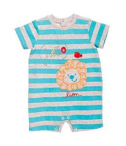Macaquinho Bebê Baby fashion bebê leão listras Baby