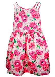 Vestido infantil feminino Momi festa floral papoulas -