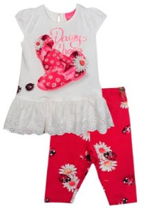 Conjunto infantil feminino Momi joaninha shoes -