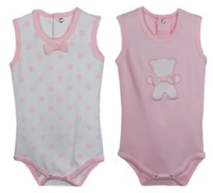 Conjunto 2 Bodies Baby fashion Bebê Menina menina de