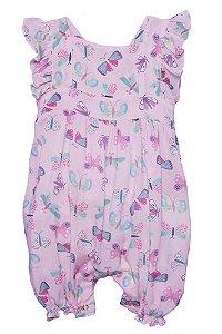 Macaquinho Bebê Que te encante bebê rose borboletas anna