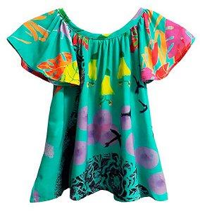 Vestido de bebê das meninas Cisne verde