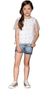 Blusa infantil feminino que te encante Brisa Off White
