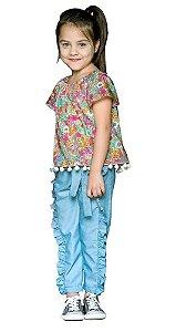 Blusa infantil feminino que te encante Lara flores liberty