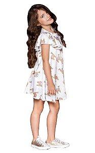 Vestido infantil feminino que te encante camelo asas
