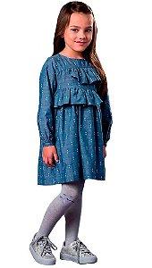 Vestido Infantil Feminino que te encante Poppy chambray