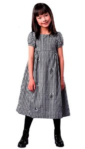 Vestido Infantil Feminino que te encante amber xadrez