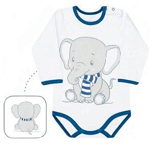 Body bebê menino dedeka suedine elefante