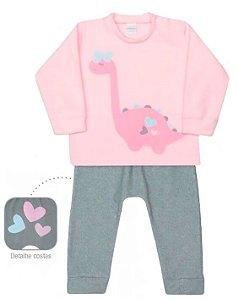 Pijama infantil dedeka soft dinos brilha no escuro passos