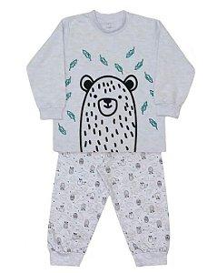 Pijama infantil unissex dedeka moletinho bichos do bosque