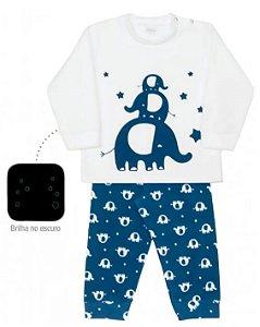 Pijama infantil masculino dedeka soft elefante brilha escuro
