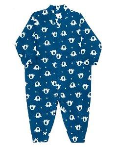 Macacão de soft bebê menino dedeka elefantes azul marinho