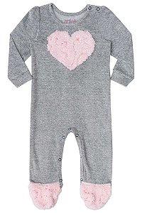 Macacão de bebê Kukie Push e pelo coração