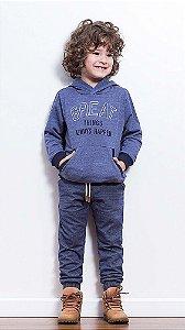 Conjunto infantil Luc.boo blusa Moletom calça jogger Great