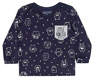 Camiseta de bebê Luc.boo malha suedine Little monster
