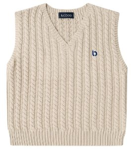 Colete infantil Luc.boo tricô sem costura 100% algodão