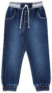 Calça infantil Luc.boo Jeans Jogger com elastano