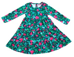 Vestido infantil Momi heart garden tulipa corações