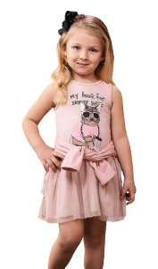 Vestido infantil Momi gato blusa de moletom cold and sunny