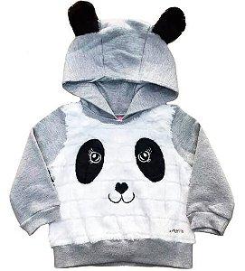 Blusa de moletom infantil momi panda pelo com capuz