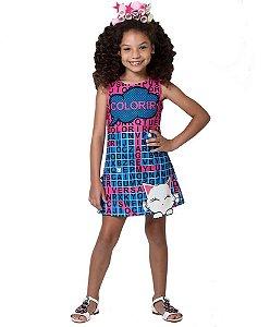 Vestido infantil Mylu caça palavras