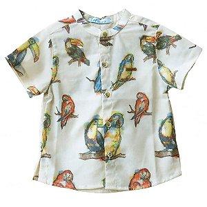 Camisa infantil Oliver Jr. Pássaros