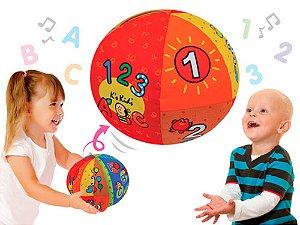 Bola Aprendizado Fala De 1 A 10 e fala o  Alfabeto K´s Kids
