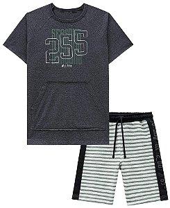 Conjunto Infantil Johnny Fox 255 Camiseta Bermuda moletom
