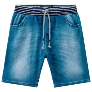 Bermuda infantil Johnny Fox Moletom imitando jeans Denim
