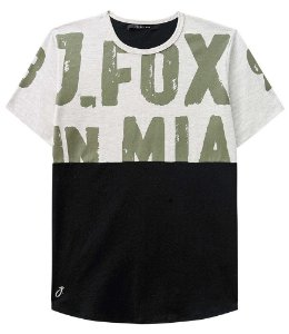 Camiseta Infantil Johnny Fox In Miami verde