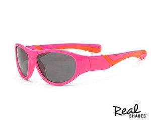 Óculos De Sol Discover Rosa E Laranja Real Shades