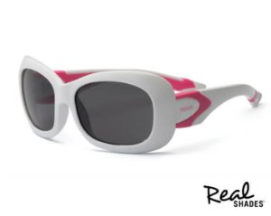 Óculos De Sol Breeze Real Shades Branco e rosa