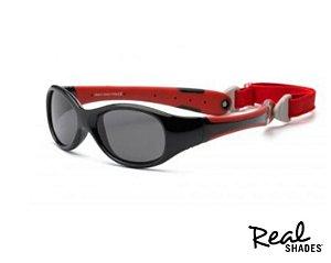 Óculos De Sol  Bebê Explorer Preto E Vermelho Real Shades