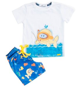 Conjunto infantil Oliver Jr. Peixe mergulhador