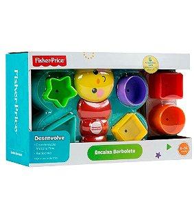 Brinquedo de bebê 6 a 36 meses Encaixa Borboleta Fisher Price