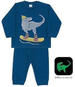 Pijama infantil Dedeka Soft brilha no escuro Dino Snow