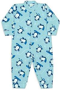 Macacão infantil masculino dedeka soft Pinguins