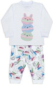 Pijama infantil Dedeka Moletinho flanelado Macarons