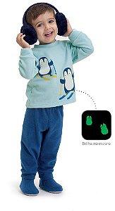 Pijama infantil Dedeka Soft brilha no escuro Pimguim