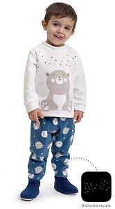 Pijama infantil Dedeka Soft brilha no escuro Bichinhos