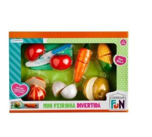 Creative Fun Mini Feirinha Divertida Legumes De Velcro
