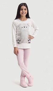 Pijama Infantil Dedeka de ribana ursa laço