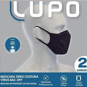 Máscara De Proteção Lupo Sem Costura Antiviral Lavável