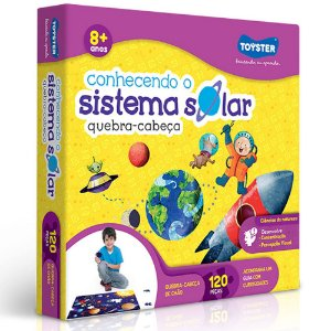 Quebra-cabeça Grandão Sistema Solar Brinquedo Educativo 120p