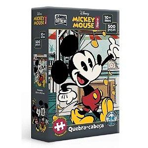 Quebra-cabeça Nano 500 Peças Disney Mickey Mouse Game Office