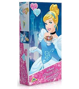 Princesa Cinderela Quebra-cabeça Metalizado 200 Peças Jak