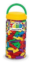 Blocos De Montar 300 Peças Coloridas Pote Tand Toyster